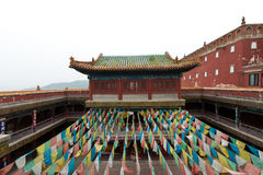 Tibetan Architecture in Putuo Temple of cases, Chengde, Mountain Royalty Free Stock Images
