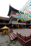 Tibetan Architecture in Putuo Temple of cases, Chengde, Mountain Stock Photos