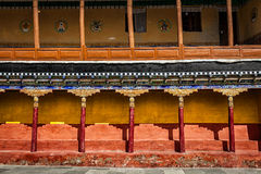 Tibetan architecture in Thiksey monastery Stock Photo