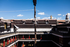 Tibetan arkitektur Arkivfoto