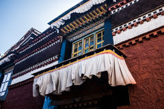 Tibetan arkitekturstil Royaltyfria Bilder