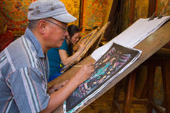 Tibetan Artist Stock Image