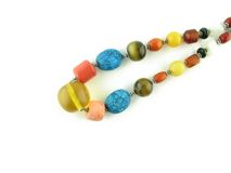 The Tibetan beads. Various stones stock images