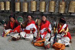 Tibetan beggars Royalty Free Stock Photography