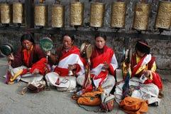 Tibetan beggars royalty free stock photography