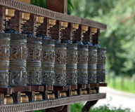 Tibetan bells. View of Tibetan bells luck Royalty Free Stock Photo