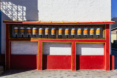 Tibetan bells in front of Tibetan Buddhism Temple entrance in Sikkim, India.  Royalty Free Stock Photo