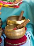 Tibetan bells for sale Royalty Free Stock Photo