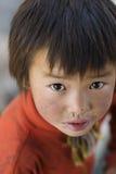 Tibetan big eyes boy Stock Photography