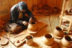 Tibetan black   pottery Stock Photography