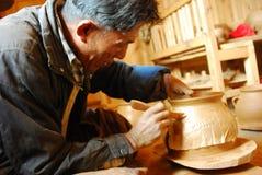 Tibetan black   pottery Royalty Free Stock Photography