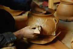 Tibetan black   pottery Royalty Free Stock Image