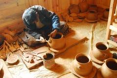 Tibetan black pottery Stock Photo