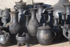 Tibetan black   pottery. Black   pottery  in  tibet Royalty Free Stock Photography