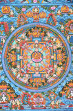 Tibetan Boeddhistische Thangka Stock Afbeeldingen