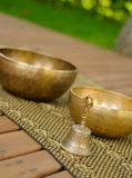 Tibetan bowls Stock Photos