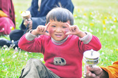 Tibetan Boy Royalty Free Stock Photo