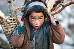 Tibetan boy, Nepal Royalty Free Stock Photography