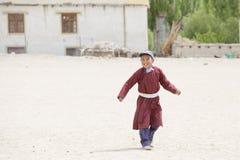 Tibetan boys involved in sports.  Druk White Lotus School. Ladakh, India Royalty Free Stock Image