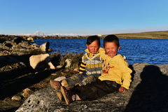 Tibetan Boys Stock Photos