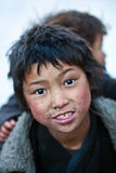 Tibetan boys, Nepal Royalty Free Stock Photography