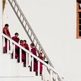 Tibetan boys, novice Buddhist monks. India Royalty Free Stock Photography