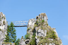 Tibetan bridge Royalty Free Stock Images