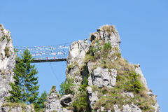 Tibetan bridge Stock Images