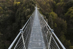 Tibetan bridge in metal Royalty Free Stock Image