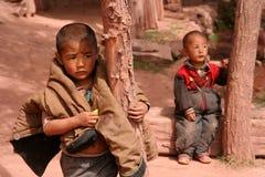 Tibetan brothers Stock Image