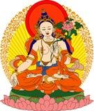 Tibetan Buddha. Vector illustration of the Tibetan Buddha with lotus Vector Illustration