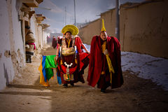 Tibetan Buddhism. Dressed in festive costumes Xicang Lama Temple Royalty Free Stock Images