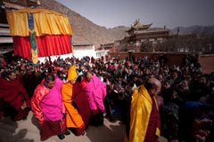 Tibetan Buddhism. Special geographical environment, a strong religious culture and folk customs form China Gannan unique atmosphere, the shutter to record a Royalty Free Stock Photos