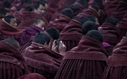 Tibetan Buddhism. Special geographical environment, a strong religious culture and folk customs form China Gannan unique atmosphere, this is a small hospital Royalty Free Stock Photos