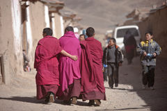 Tibetan Buddhism. Tibetan traditional festivals each year, to be held in Tibetan Buddhism, the Buddha grand sun, jump method dance, Tibetan opera performances Royalty Free Stock Images