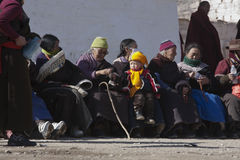 Tibetan Buddhism. Tibetan traditional festivals each year, to be held in Tibetan Buddhism, the Buddha grand sun, jump method dance, Tibetan opera performances Stock Photography