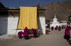 Tibetan Buddhism. Tibetan traditional festivals each year, to be held in Tibetan Buddhism, the Buddha grand sun, jump method dance, Tibetan opera performances Stock Photos