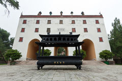 Tibetan Buddhism in landscape architecture of an ancient temple Royalty Free Stock Photo