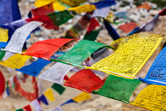 Tibetan Buddhism prayer flags lungta Stock Photography