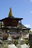 Tibetan Buddhism stupa. In TaGong temple, Suchuan Prov, China Royalty Free Stock Photography