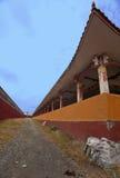 Tibetan Buddhism temple inside Stock Image