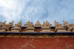 Tibetan Buddhism temple inside Stock Photos