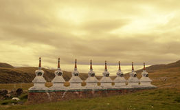 Tibetan Buddhism temple inside Stock Photos