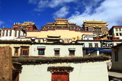 Tibetan buddhism temple, Songzanlin Lamasery, in Yunnan Province China. This is the tibetan buddhism temple in Shangri la, Yunnan, China Royalty Free Stock Photo