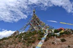 Tibetan Grayer flags stock photography