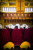 Tibetan Buddhist ceremony, Gyuto monastery, Dharamshala, India Royalty Free Stock Photo