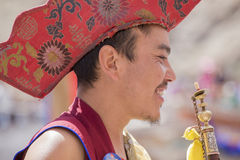 Tibetan Buddhist lamas in Hemis monastery, Ladakh, India Stock Photos