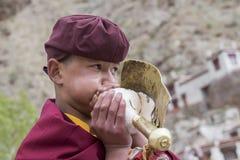 Tibetan Buddhist lamas in Hemis monastery, Ladakh, India Stock Photography
