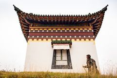Tibetan Buddhist monastery in China Royalty Free Stock Photos