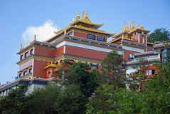 Tibetan Buddhist monastery - Nepal - Asia. Tibetan Buddhist monastery - Thrangu Tashi Yangtse Monastery ( Main Temple ) - in the Karma Kagyu tradition - with stock images